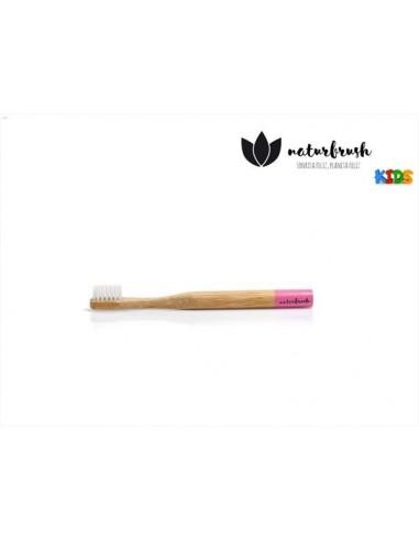 Naturbrush cepillo dental infantil rosa extra suave