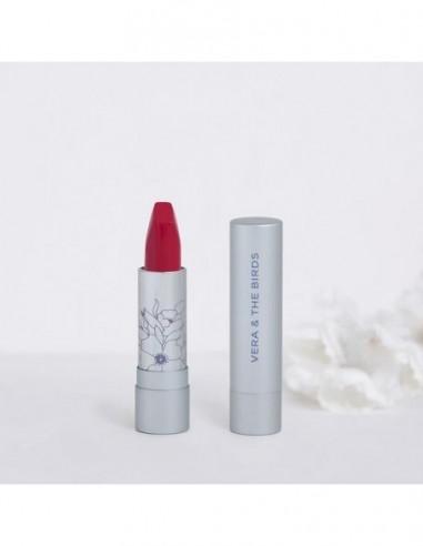 Vera & the Birds radiant mate natural lipstick wild hibiscus soft cream