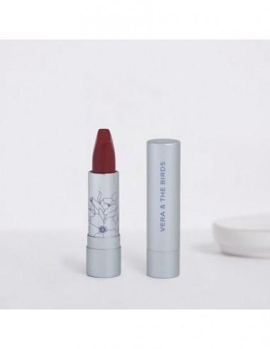 Vera & the Birds radiant mate natural lipstick dark blossom soft cream