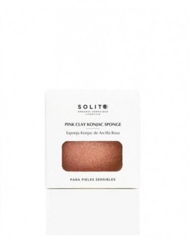 Solito pink clay esponja facial konjac - piel sensible