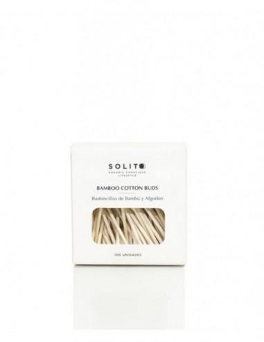 Solito bastoncillos de bambú y algodón 100 u